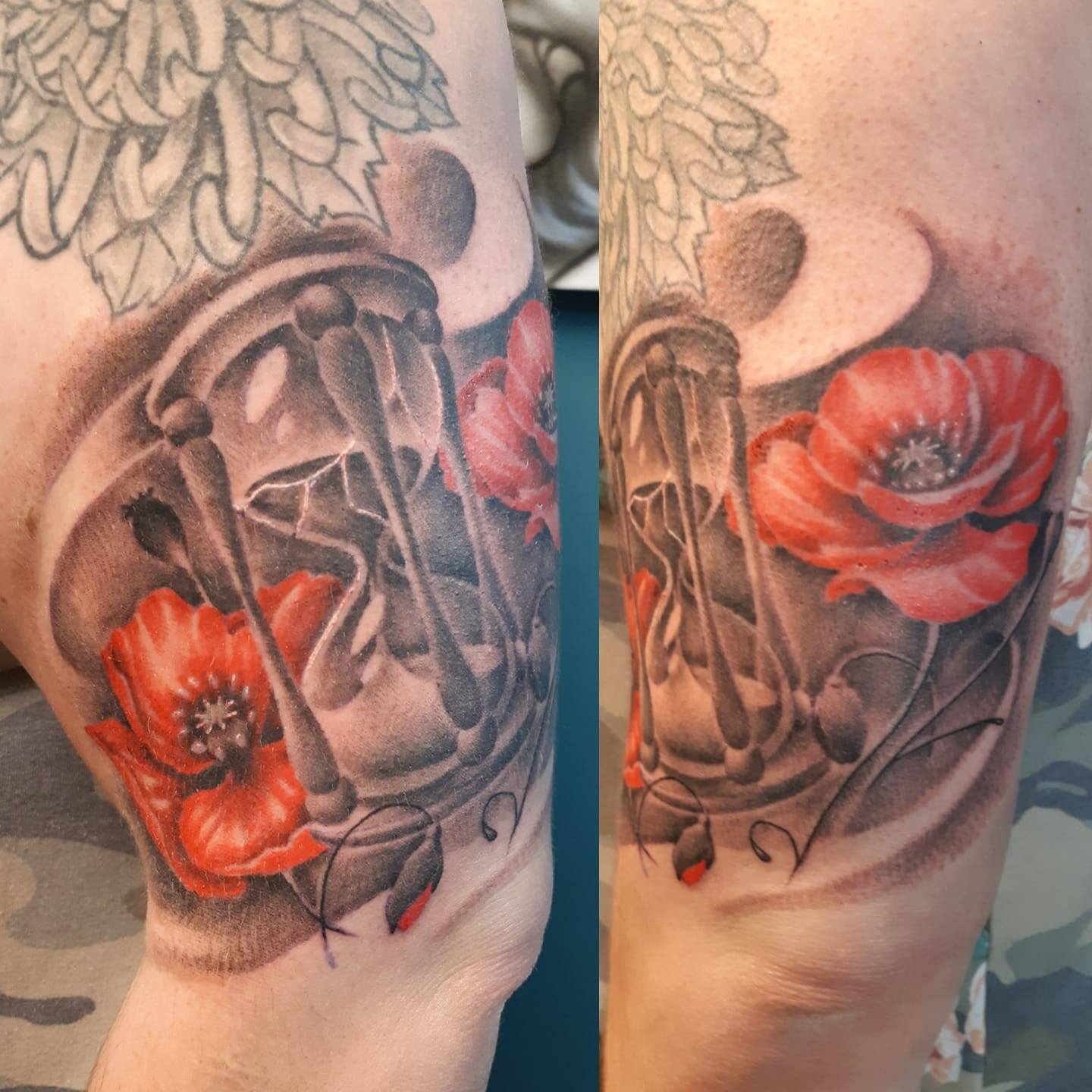 Freehand Poppies — Clay Walker Tattoo