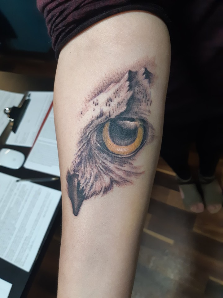 Owl Mountain Morph — Clay Walker Tattoo