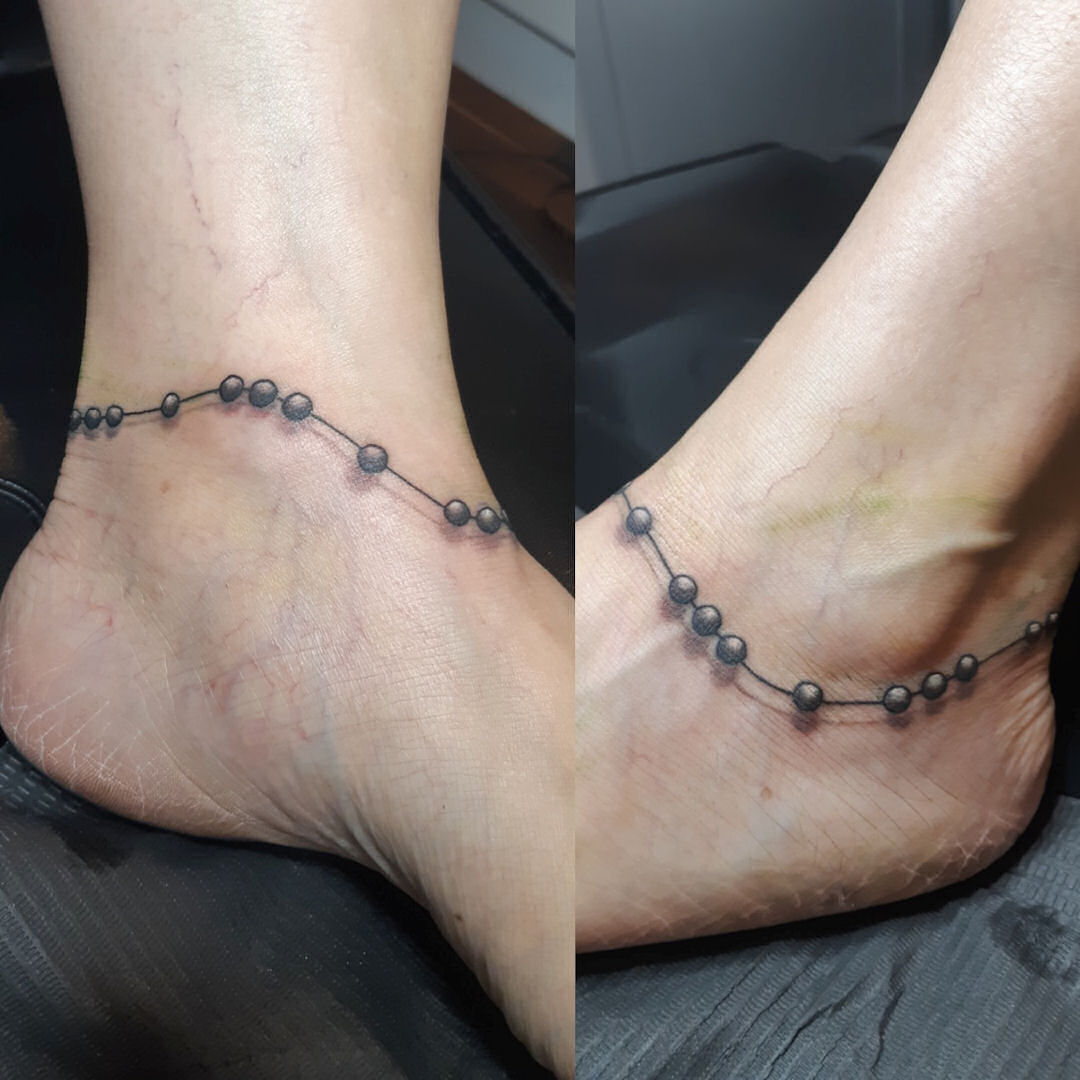 Cute Ankle Beads — Clay Walker Tattoo