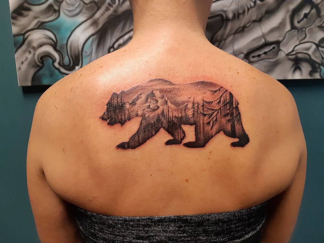 Freehand Bear — Clay Walker Tattoo