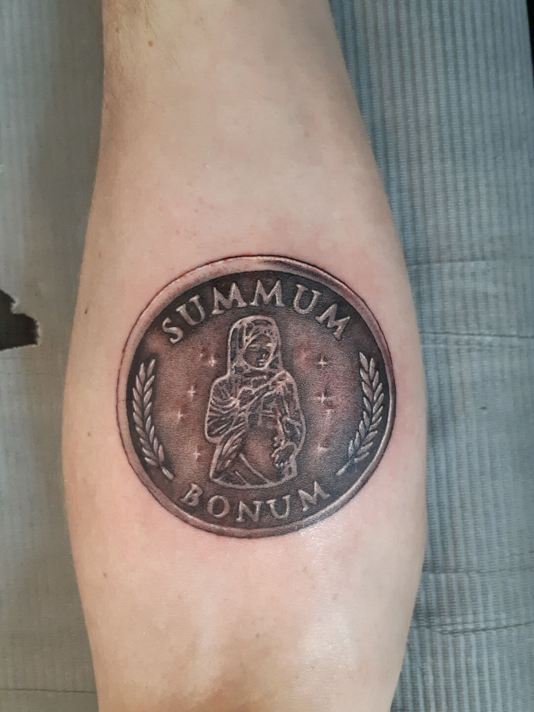 Giant Coin — Clay Walker Tattoo