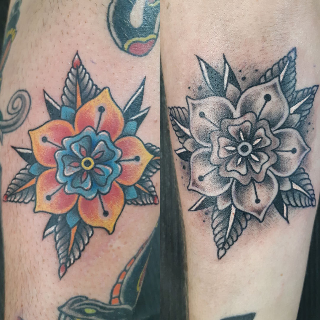 Traditional for Couple — Clay Walker Tattoo