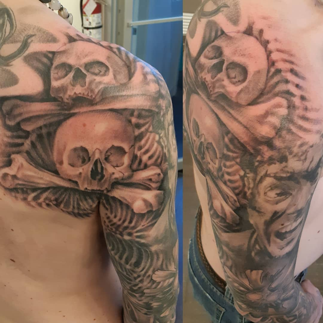 Cathedral Skulls — Clay Walker Tattoo