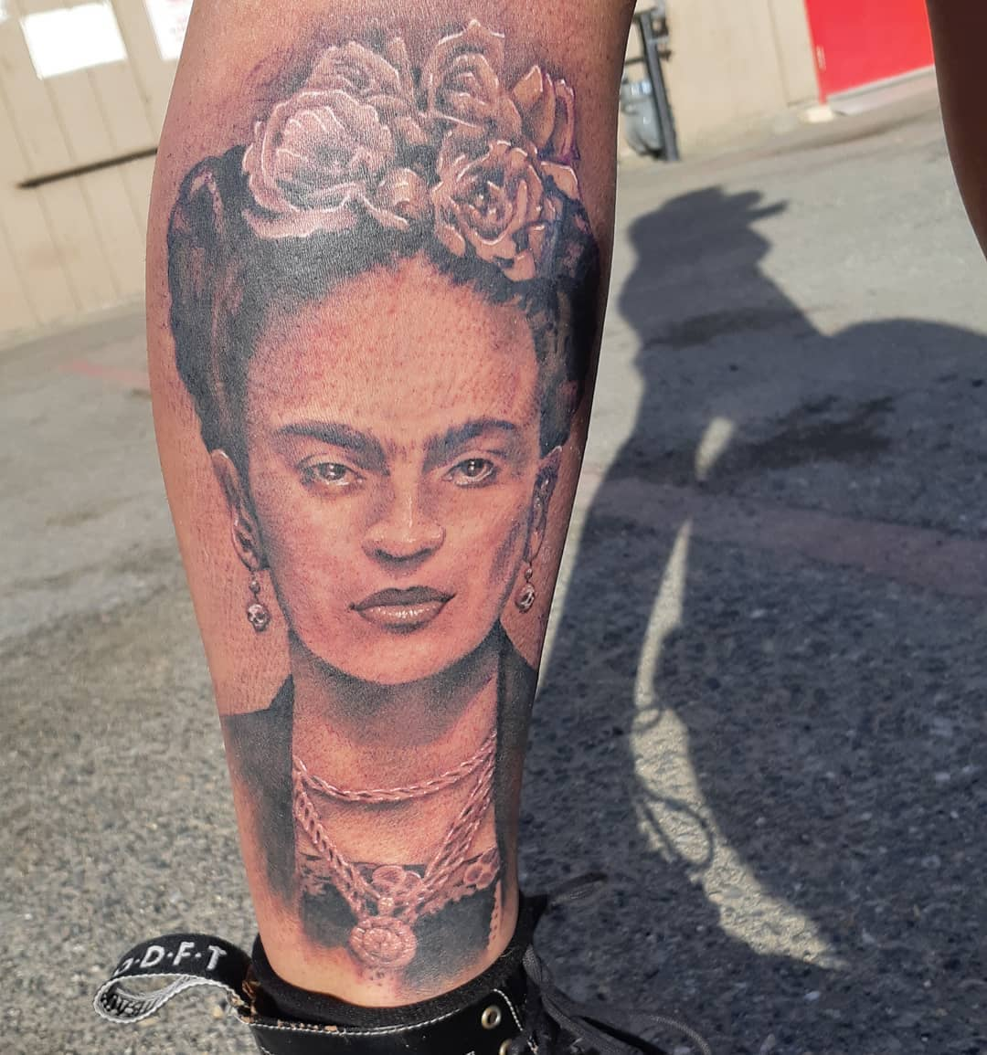 Frida Kahlo Tattoo — Clay Walker Tattoo
