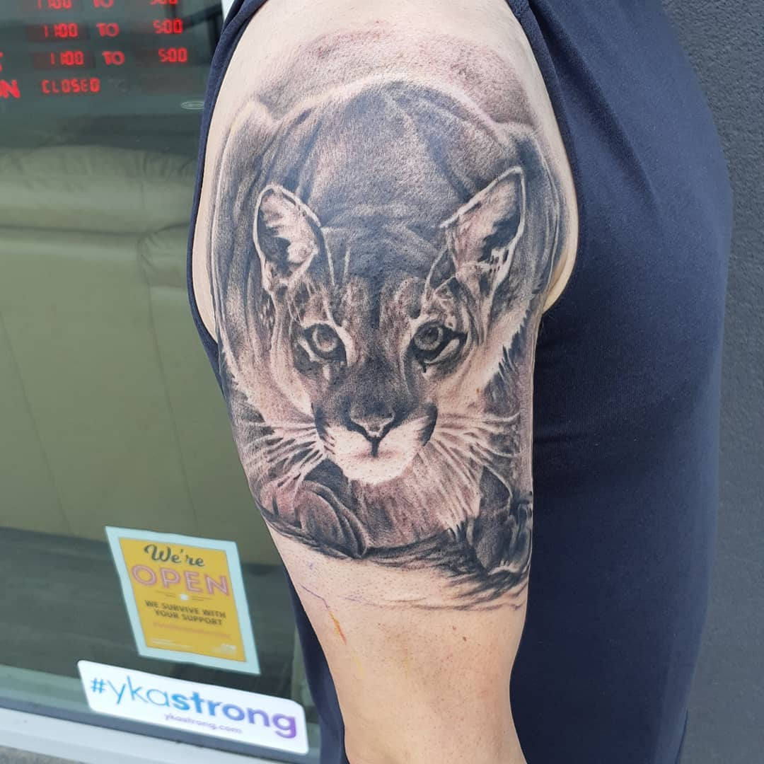 Mountain Lion — Clay Walker Tattoo