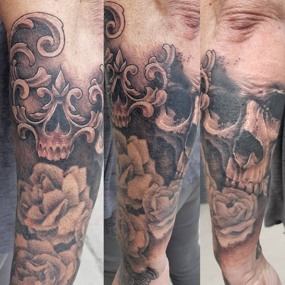 Skull Tattoo — Clay Walker Tattoo
